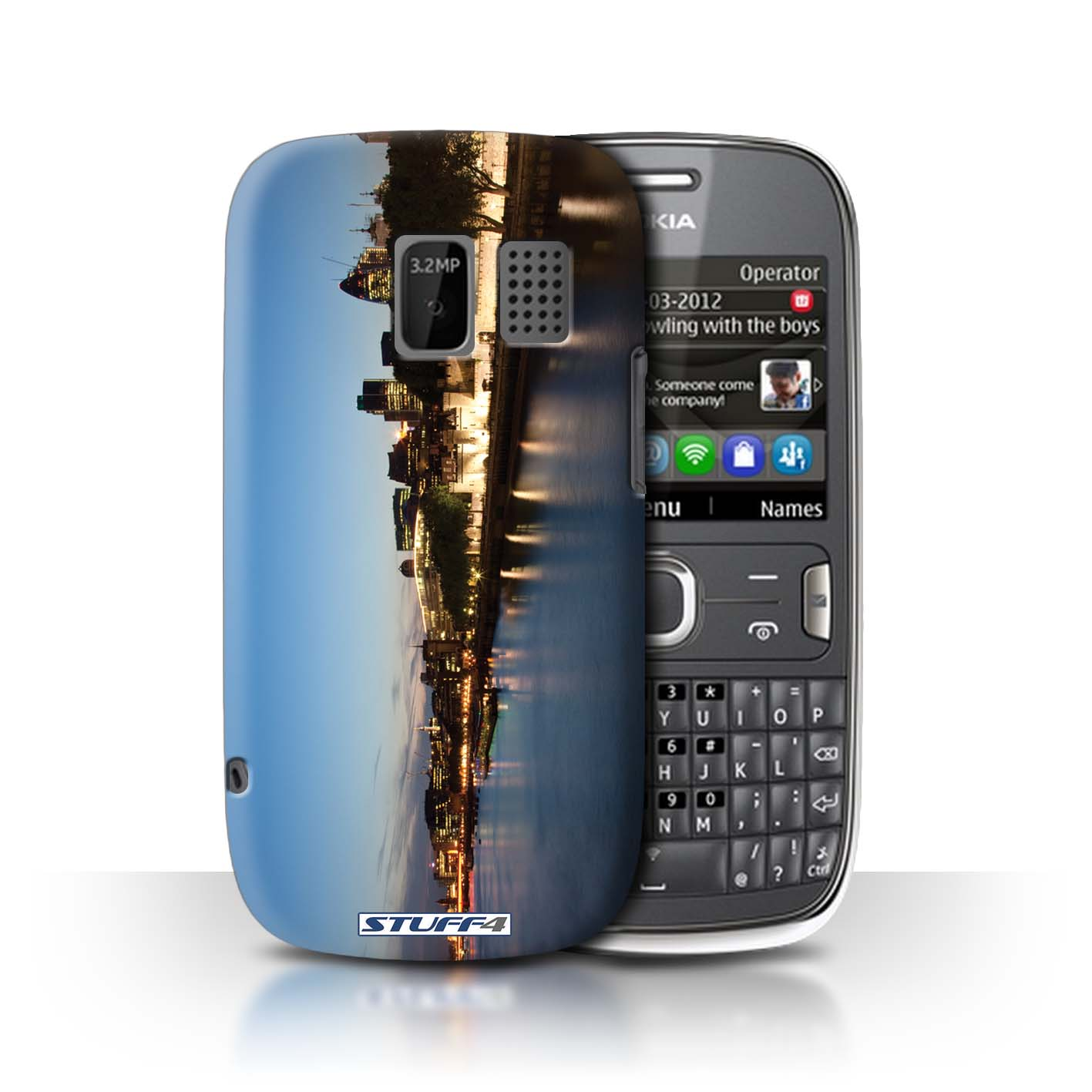 outlet store bda00 0044b Protective Hard Back Case for Nokia Asha 302 / London England Collection /  River Thames