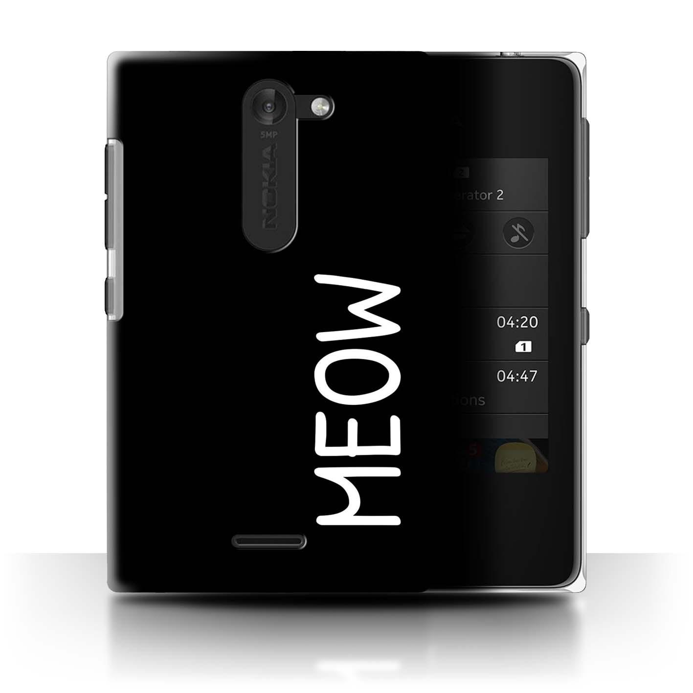 Stuff4-Huelle-Case-Backcover-fuer-Nokia-Asha-502-Dual-Niedliche-Cartoon-Katze
