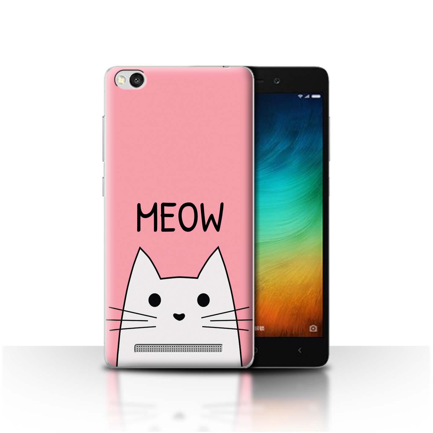 STUFF4-Back-Case-Cover-Skin-for-Xiaomi-Redmi-3-Cute-Cartoon-Cat