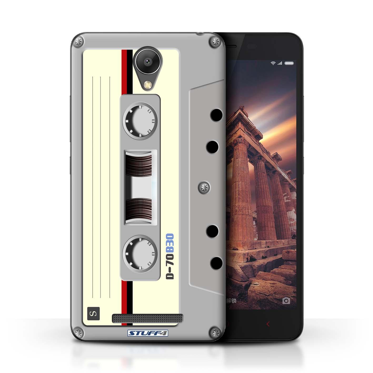 Compact Cassette Tape Retro Tech Design For Xiaomi Redmi Note 2 Prime More Designs
