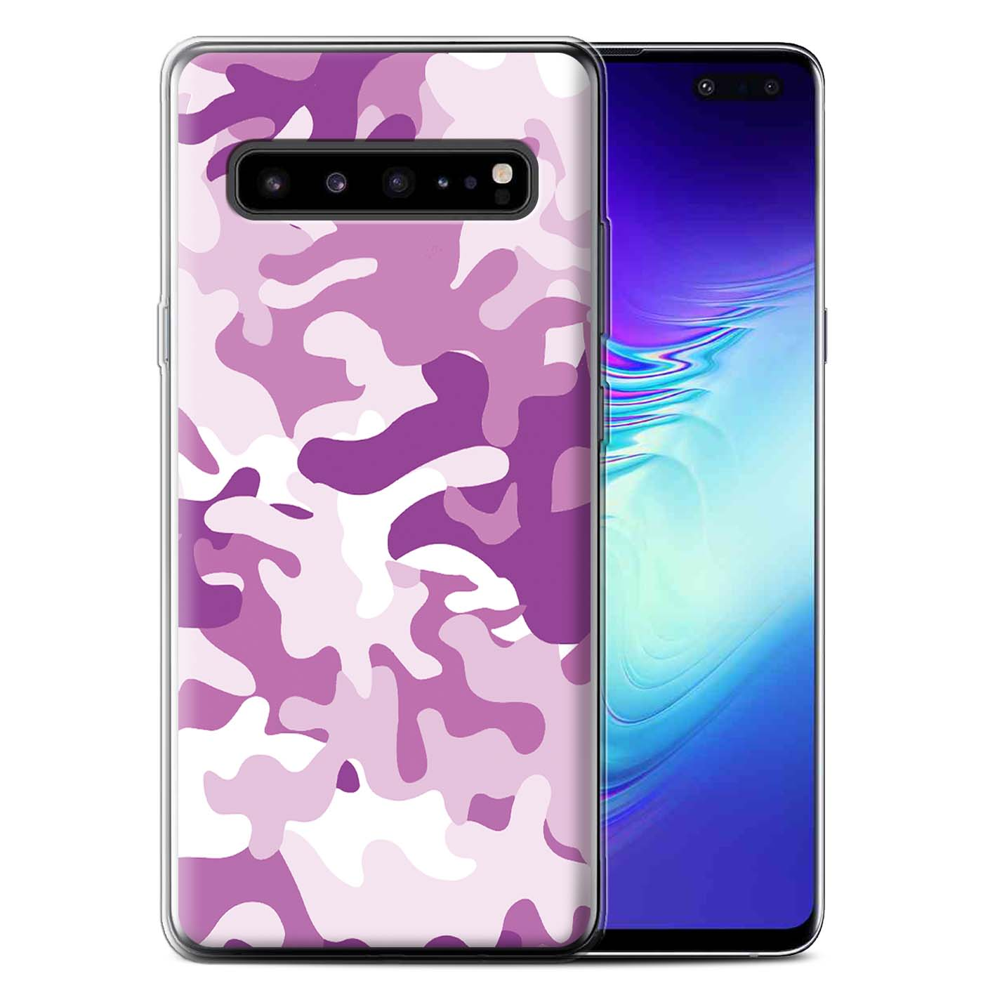 Gel-TPU-Case-for-Samsung-Galaxy-S10-5G-Camouflage-Army-Navy thumbnail 20