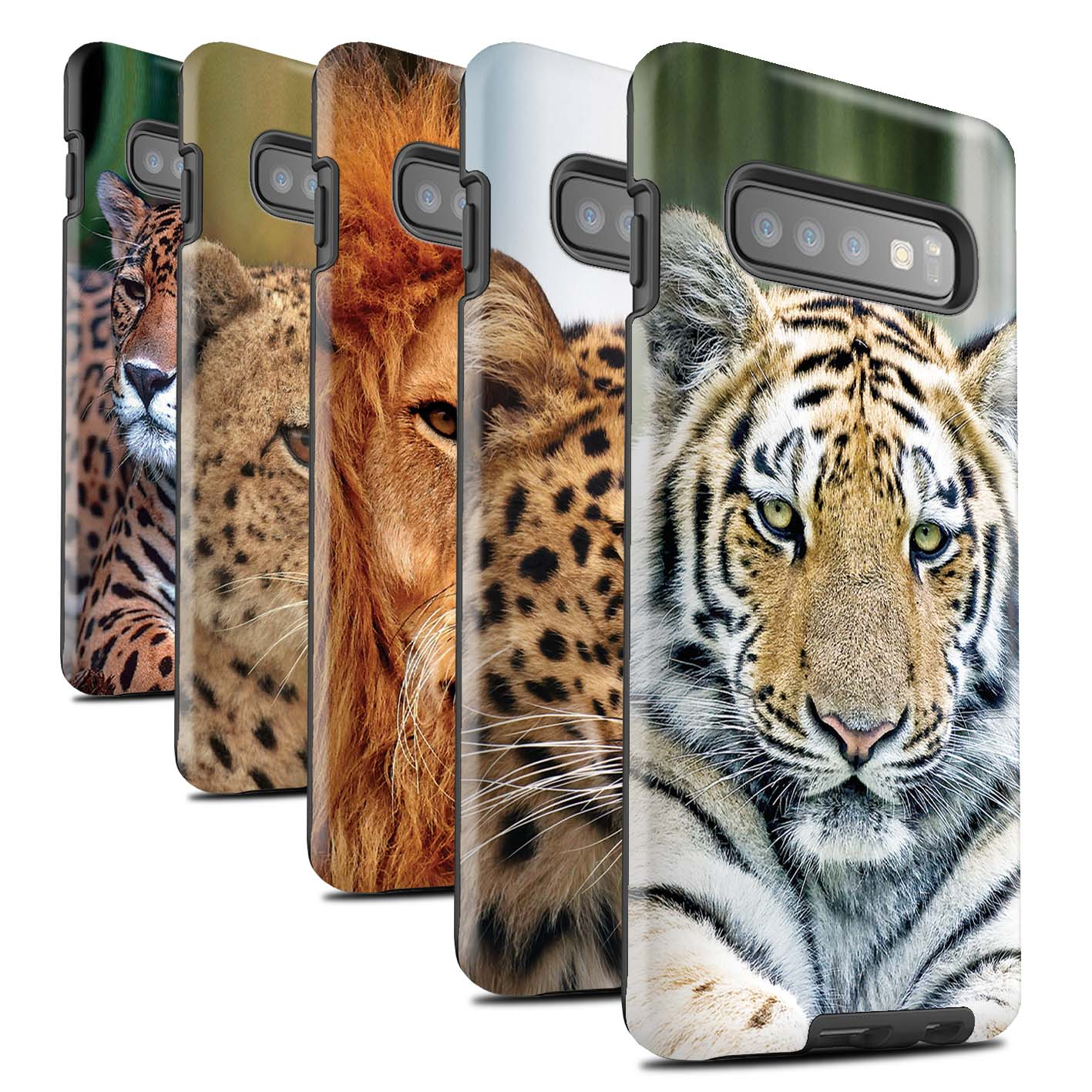 Matte-Tough-Case-for-Samsung-Galaxy-S10-Plus-Wild-Big-Cats
