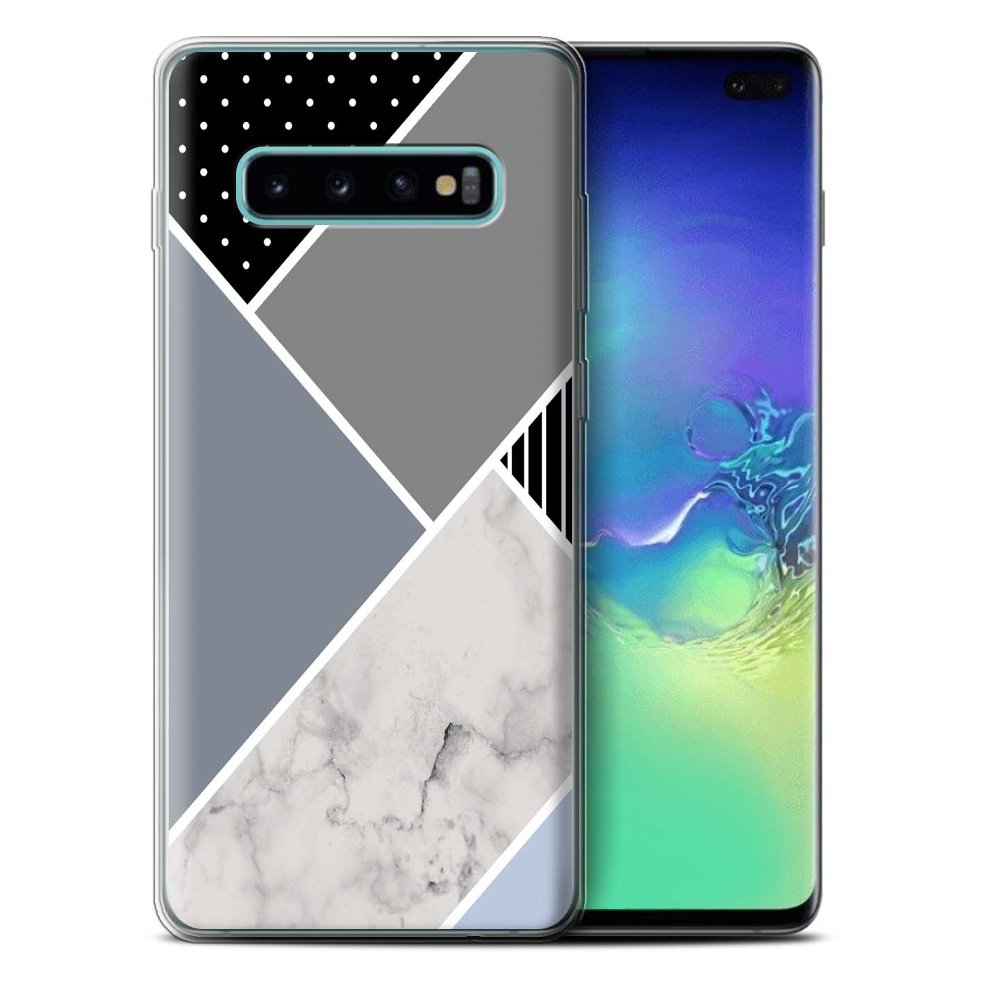 Gel-TPU-Case-for-Samsung-Galaxy-S10-Plus-Geometric-Marble-Pattern thumbnail 14
