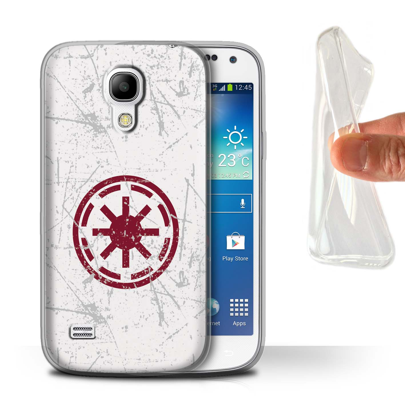 Stuff4 Geltpu Casecover For Samsung Galaxy S4 Minigalactic Symbol