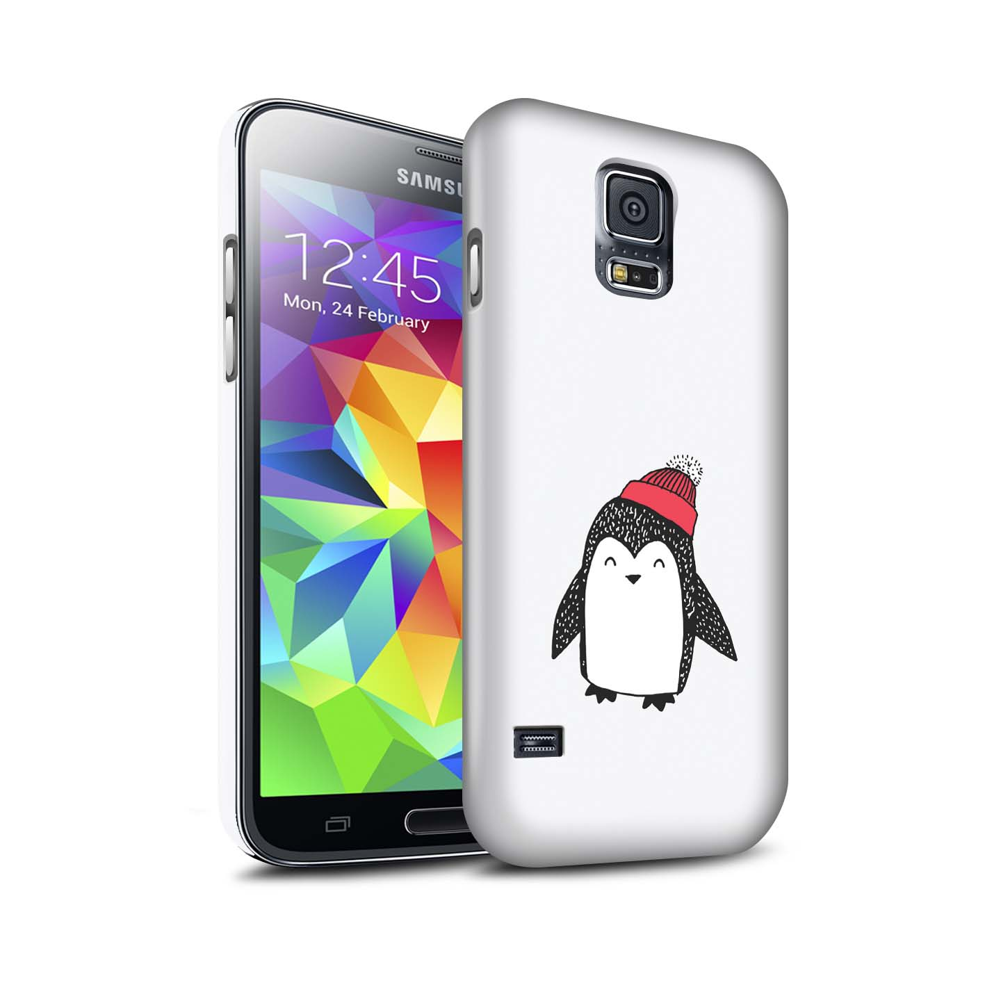 STUFF4-Matte-Phone-Case-for-Samsung-Galaxy-S5-SV-Cute-Doodle-Penguin