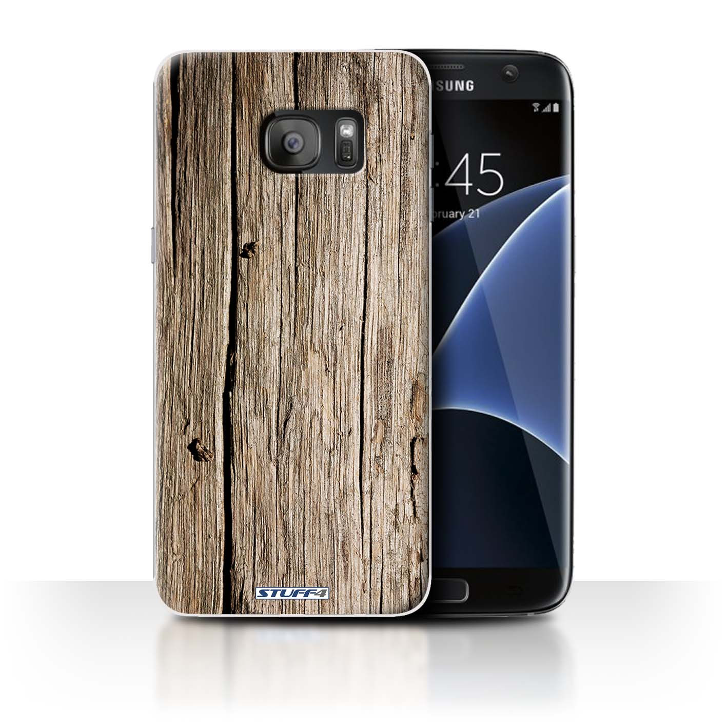 official photos d37a4 b4a4a Protective Hard Back Case for Samsung Galaxy S7 Edge/G935 / Wood Grain  Effect/Pattern Collection / Driftwood