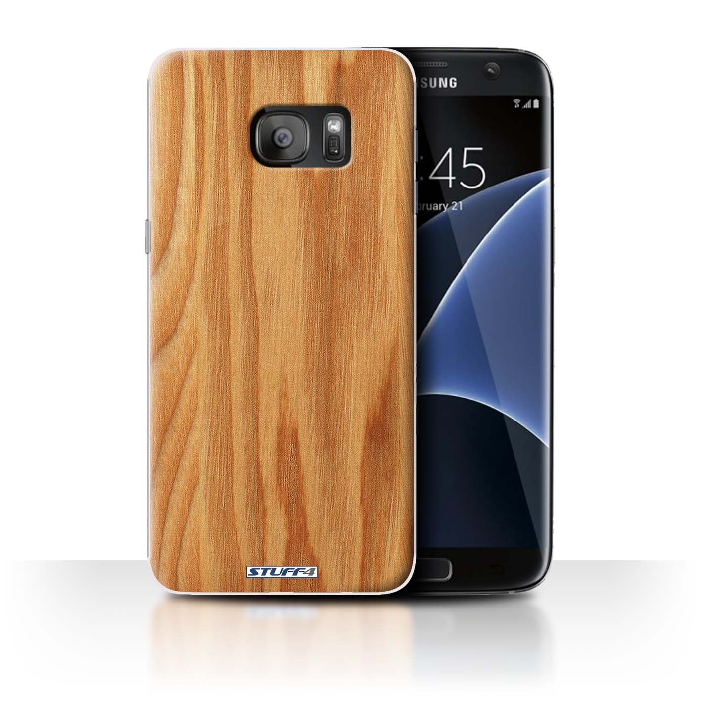 Protective Hard Back Case For Samsung Galaxy S7 Edgeg935 Wood Grain Effectpattern Collection Oak