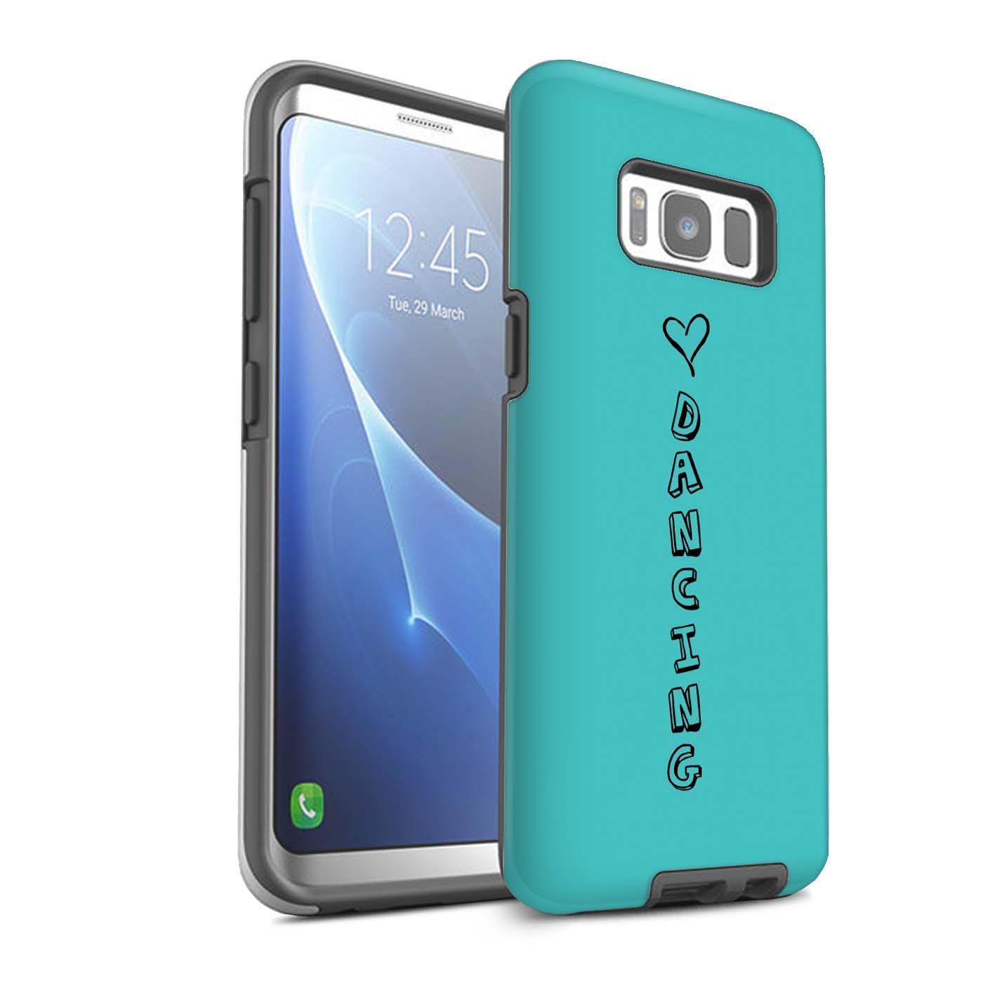 STUFF4 Glanz Zähen Stoßfestes Hülle/Case für Samsung Galaxy S8/G950 /Herz XOXO