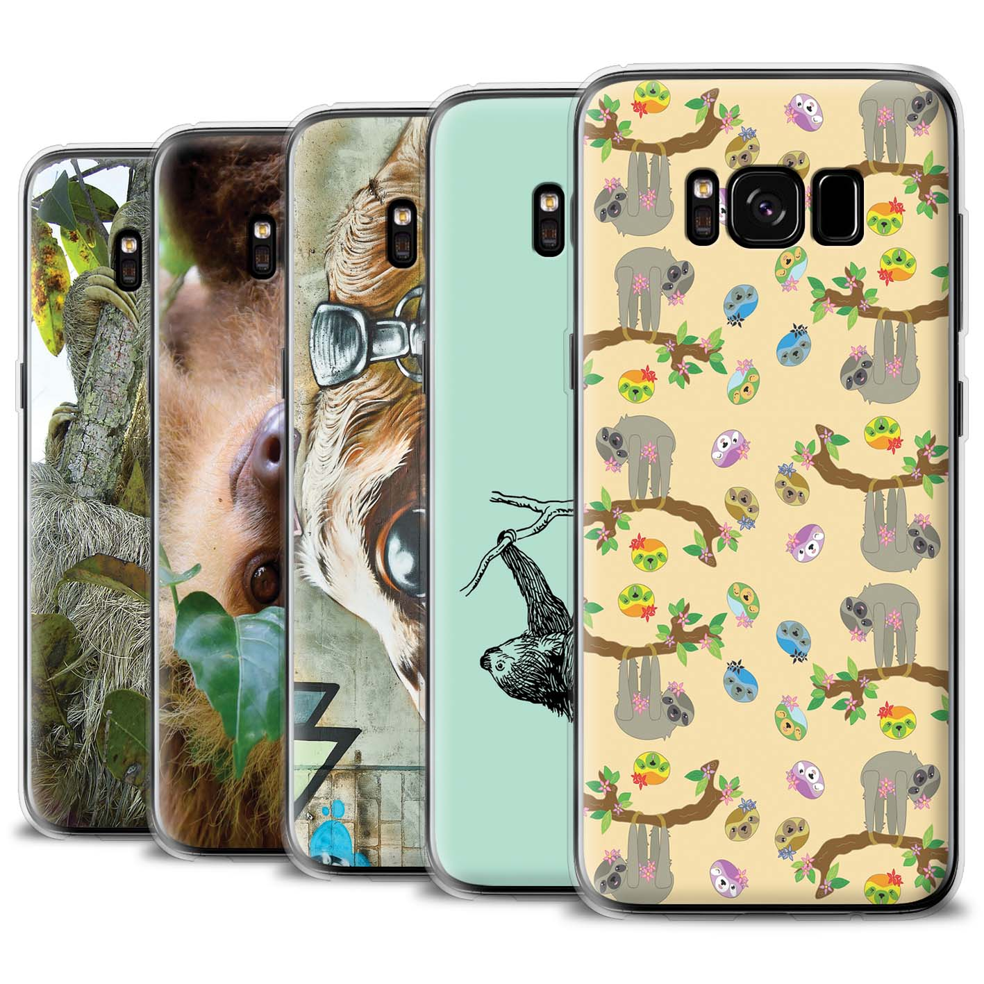Gel-TPU-Case-for-Samsung-Galaxy-S8-G950-Wild-Animal-Sloth thumbnail 1