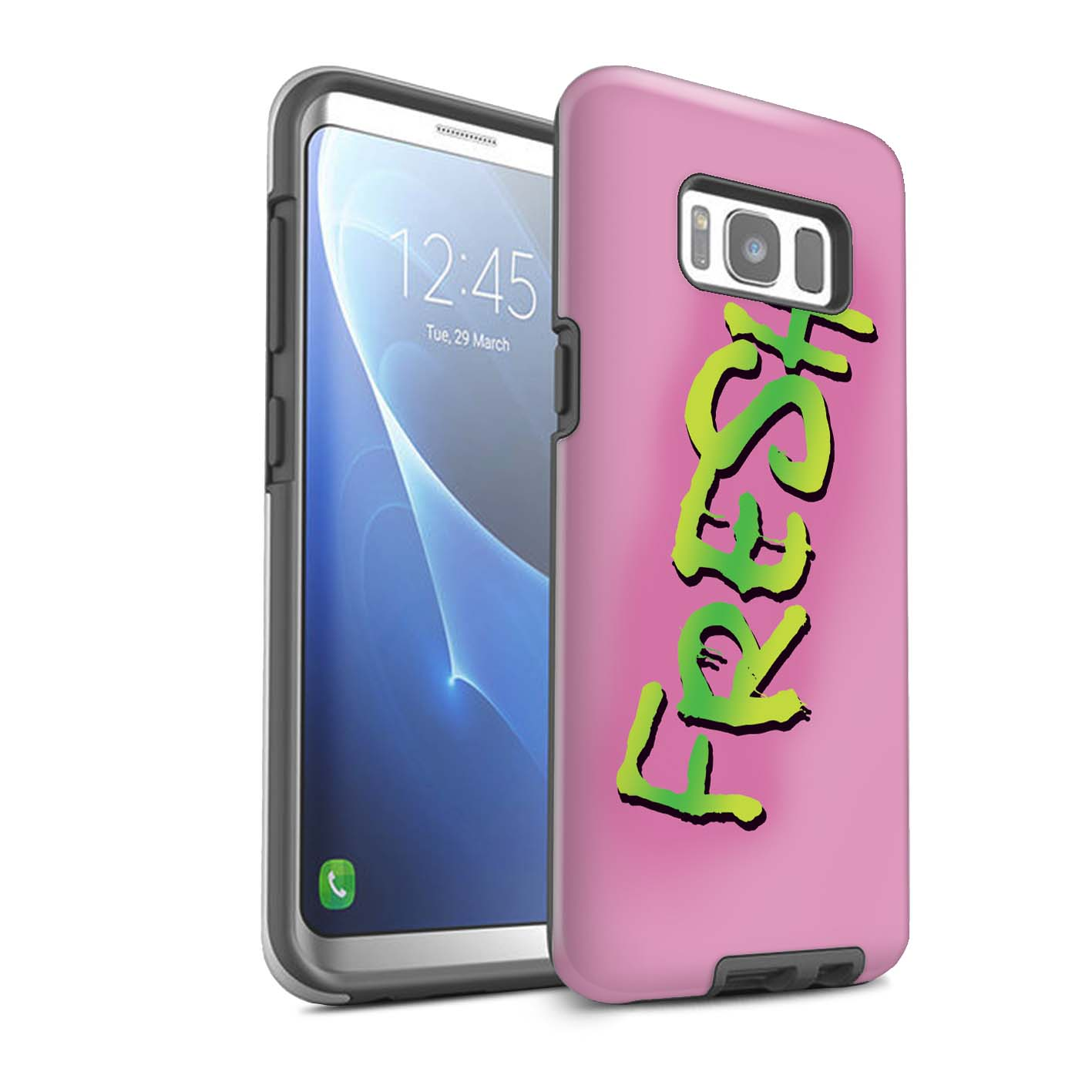 Robuste-Matte-Coque-pour-Samsung-Galaxy-S8-Plus-G955-Televisee-Drole-Prince