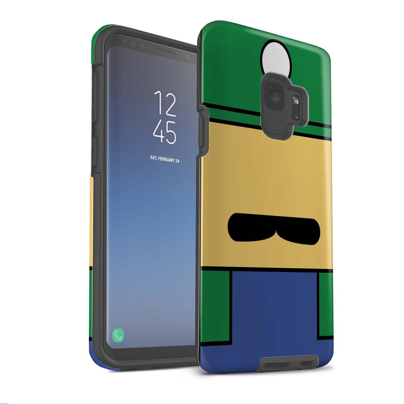 Robuste-Matte-Antichoc-Etui-pour-Samsung-Galaxy-S9-G960-Personnages-Jeu-Retro