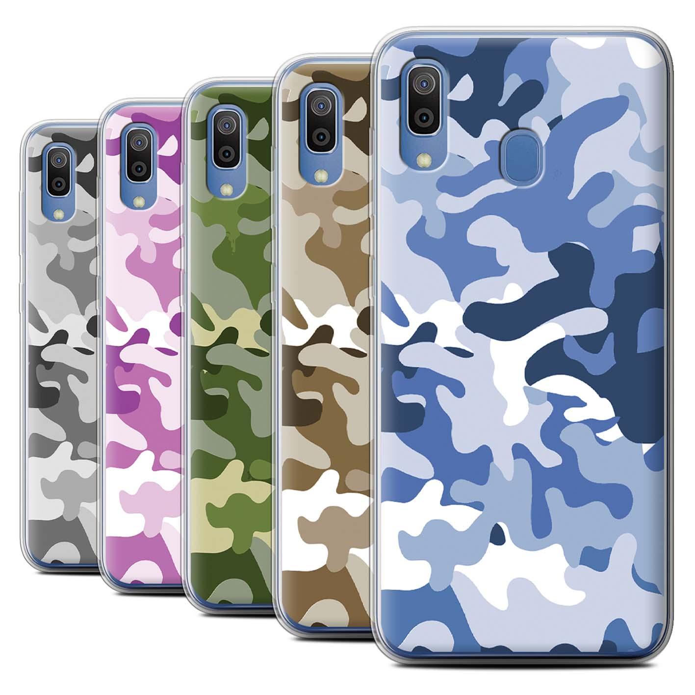 Gel-TPU-Case-for-Samsung-Galaxy-A20e-2019-Camouflage-Army-Navy