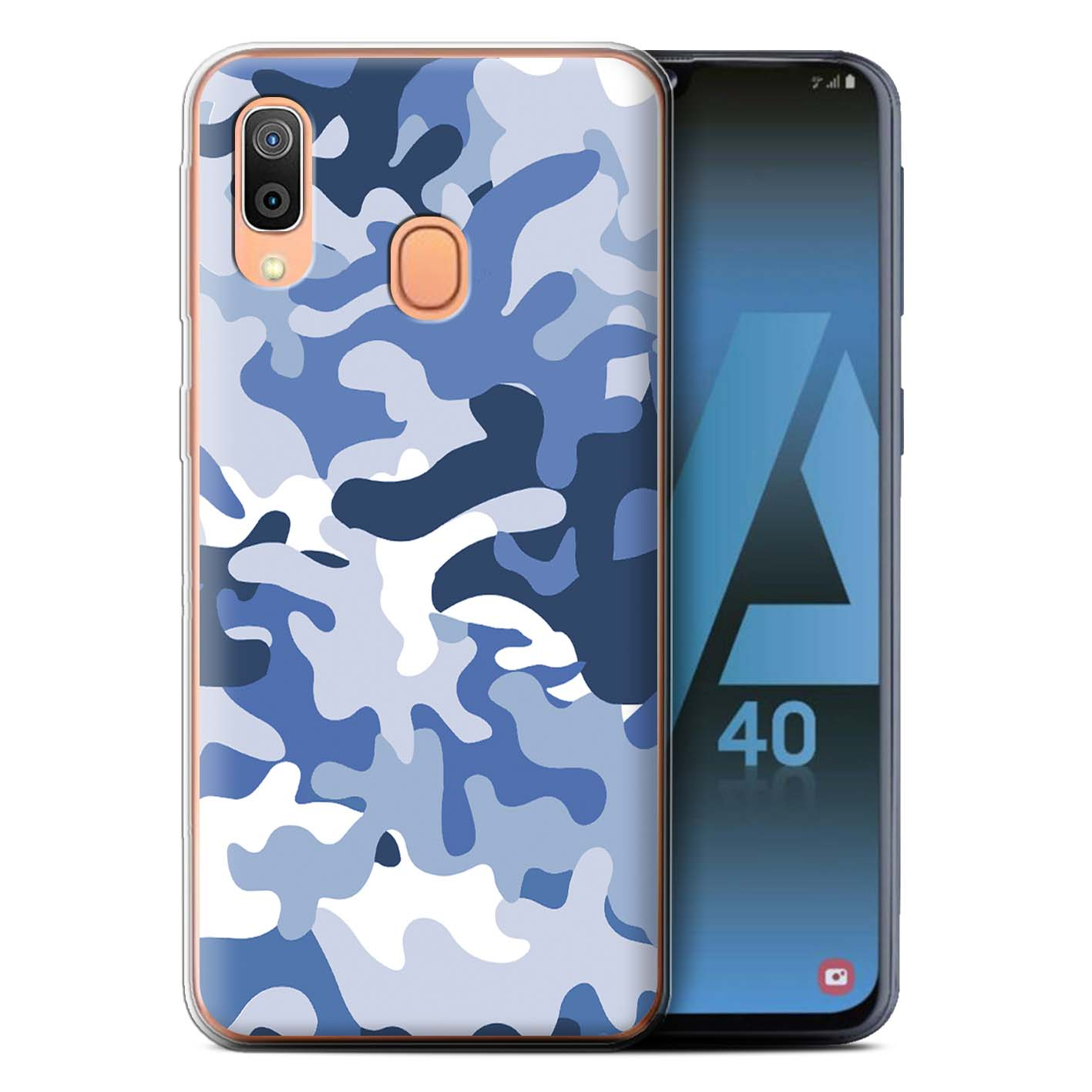 Gel-TPU-Case-for-Samsung-Galaxy-A40-2019-Camouflage-Army-Navy thumbnail 8