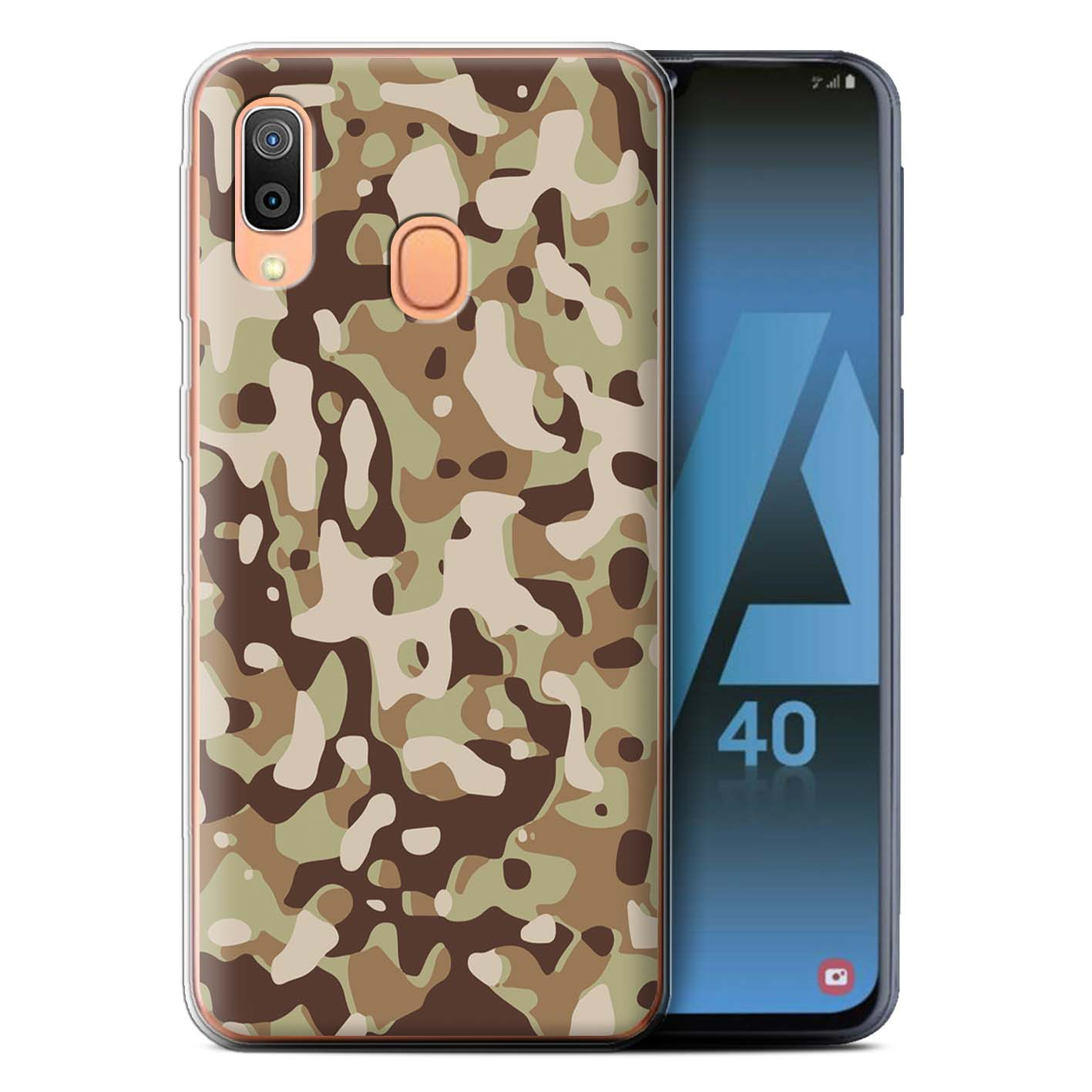 Gel-TPU-Case-for-Samsung-Galaxy-A40-2019-Camouflage-Army-Navy thumbnail 14