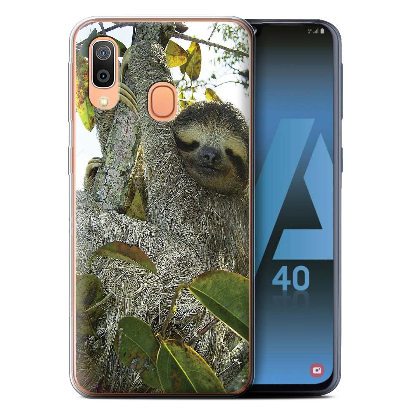 Gel-TPU-Case-for-Samsung-Galaxy-A40-2019-Wild-Animal-Sloth thumbnail 12