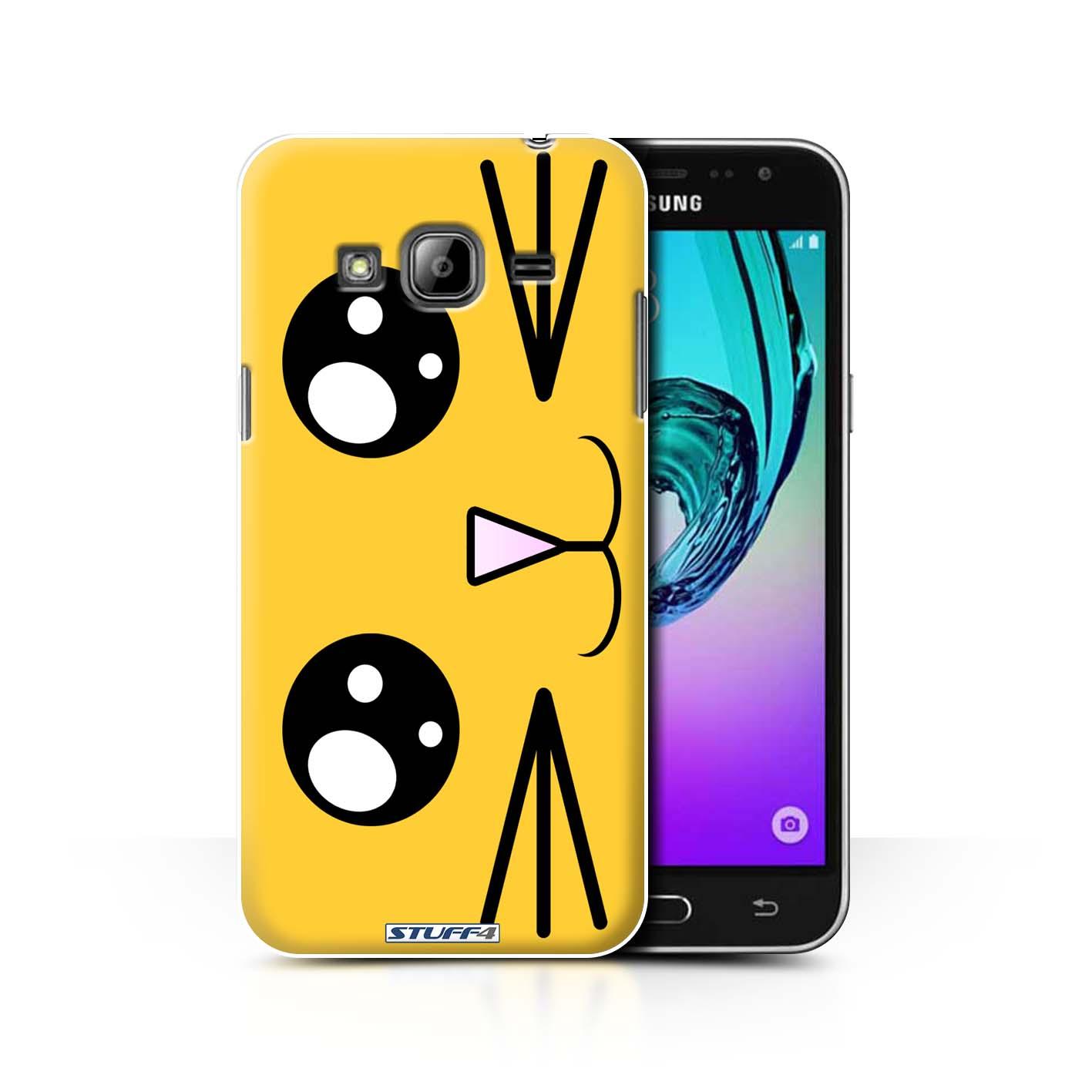 Protective Hard Back Case For Samsung Galaxy J3 Cute Kawaii Collection Lion