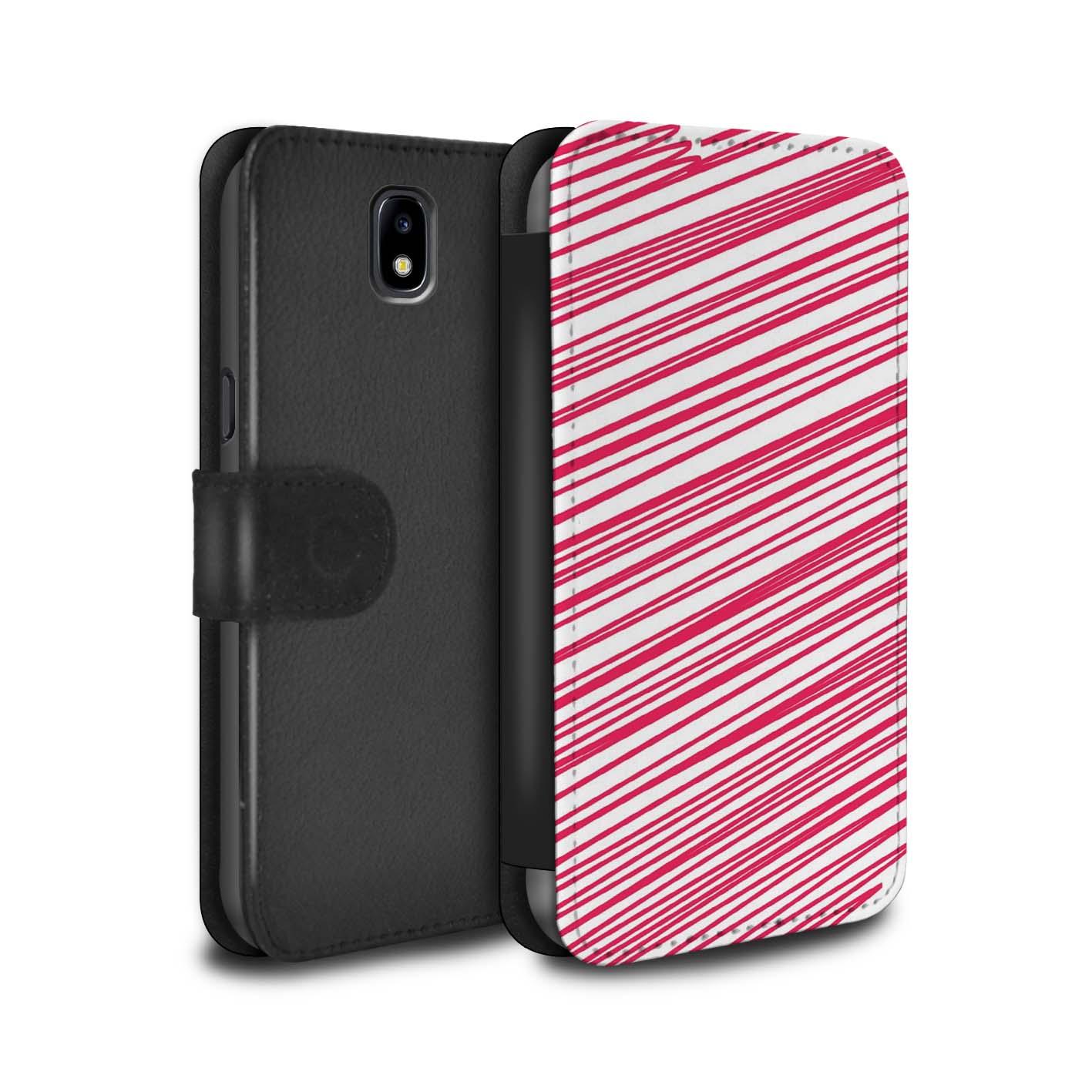 STUFF4-Coque-Etui-Case-Cuir-PU-pour-Samsung-Galaxy-J3-2017-J330-Mode-Rouge