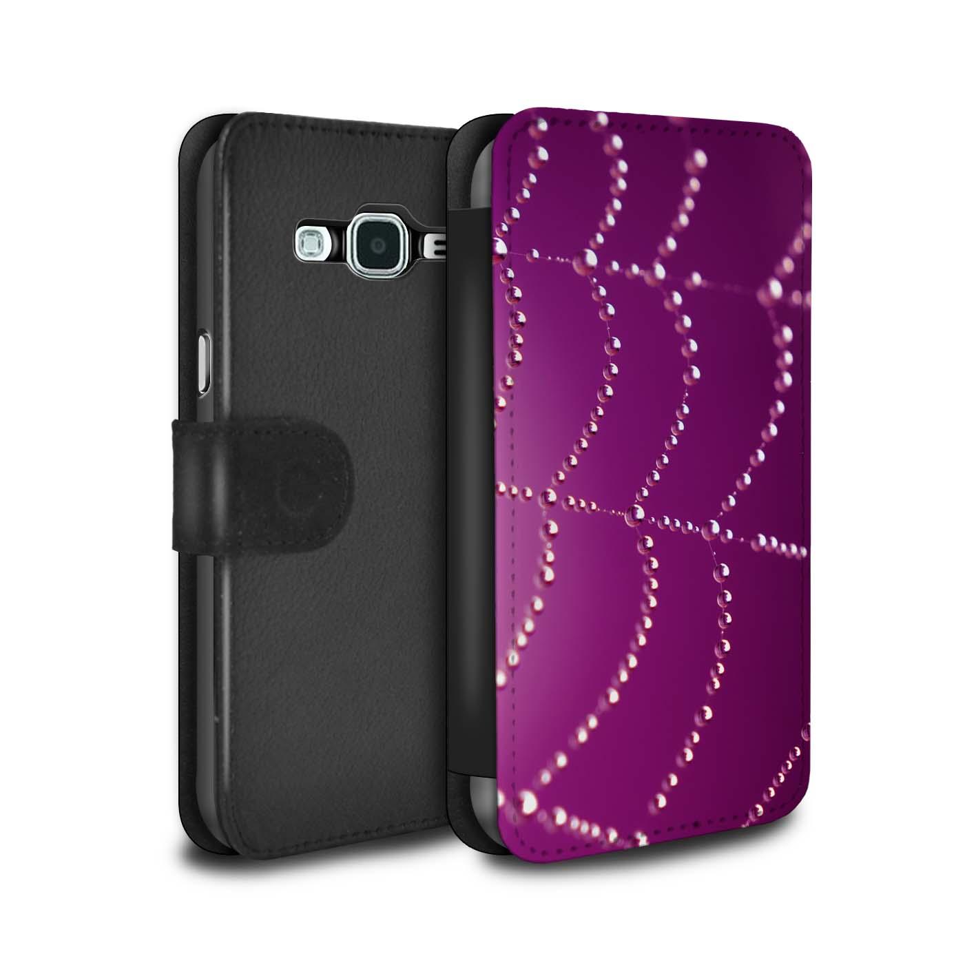 Coque-Etui-Case-Cuir-PU-pour-Samsung-Galaxy-J5-2016-Toile-d-039-araignee-Perles