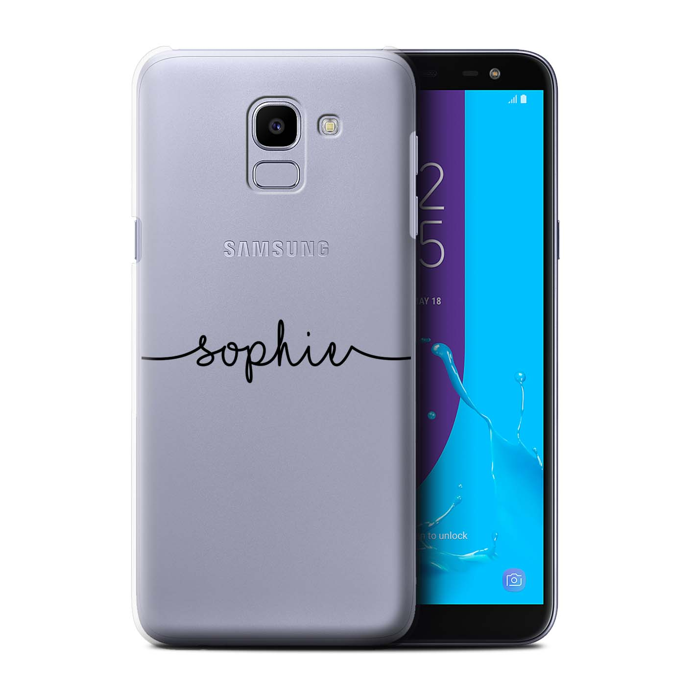 Personalised-Case-for-Samsung-Galaxy-J6-2018-J600-Custom-Handwritten-Name thumbnail 8