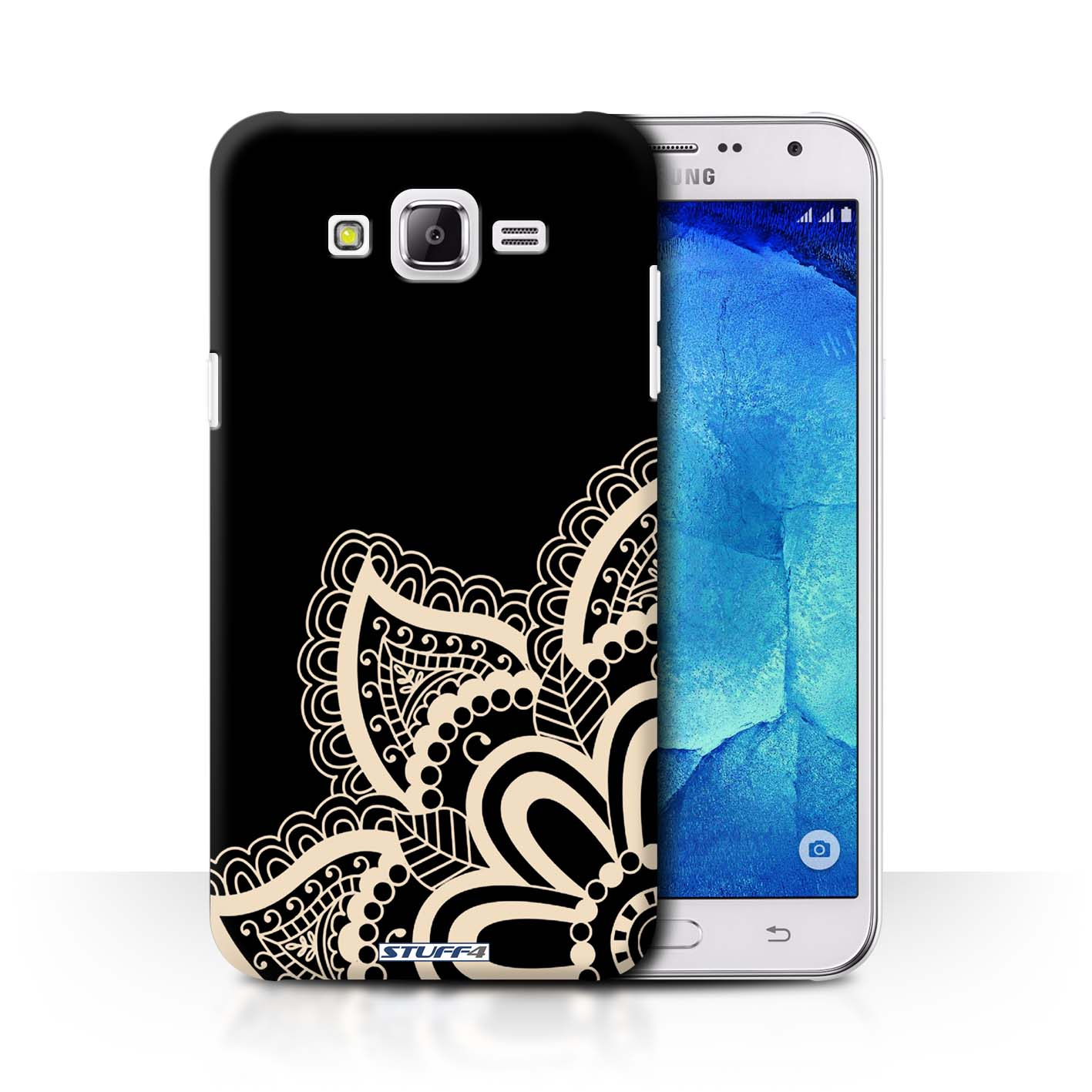 wholesale dealer bd5eb 323cb Protective Hard Back Case for Samsung Galaxy J7/J700 / Henna Tattoo  Collection / Star
