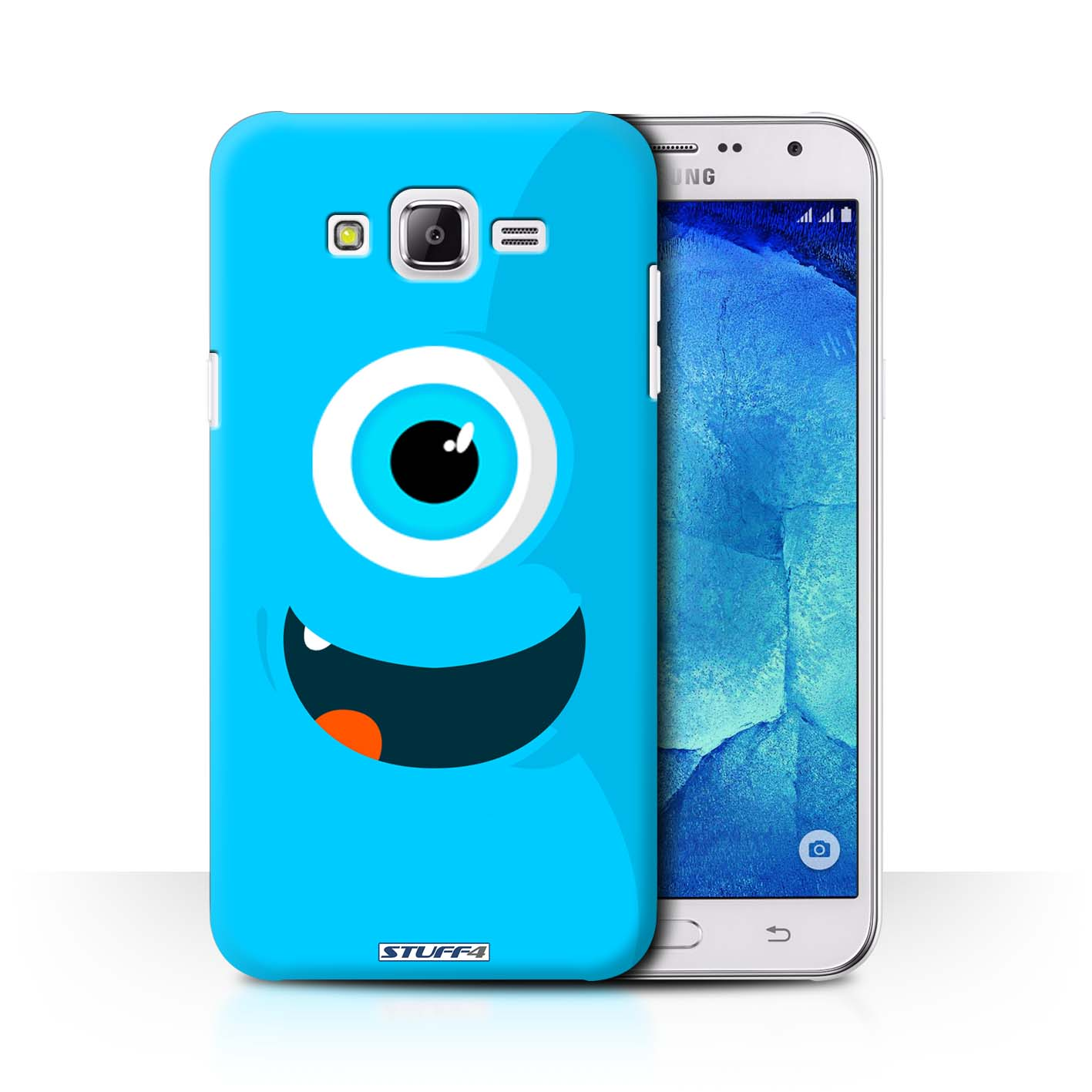 huge discount fea96 52a56 Blue Monsters Design for Samsung Galaxy J7/J700 Clear Hard Back Case
