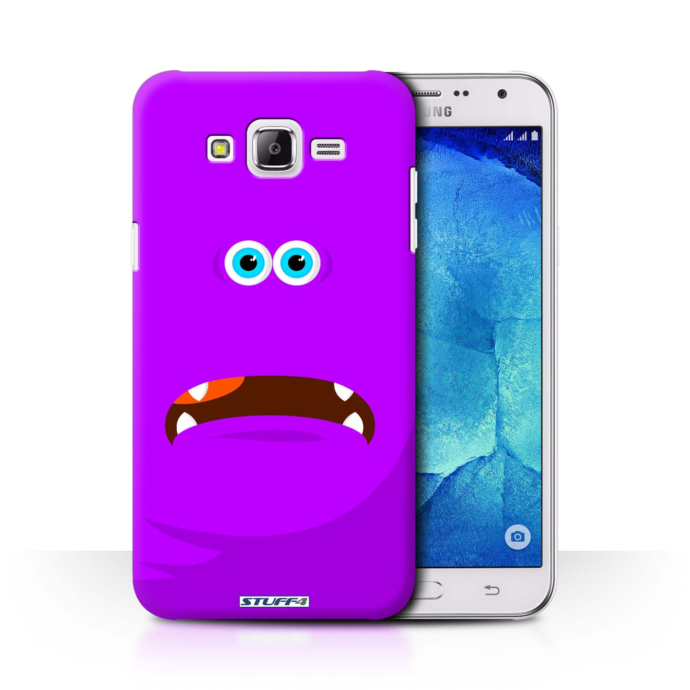 new concept d2ccf b49a8 Purple Monsters Design for Samsung Galaxy J7/J700 Clear Hard Back Case