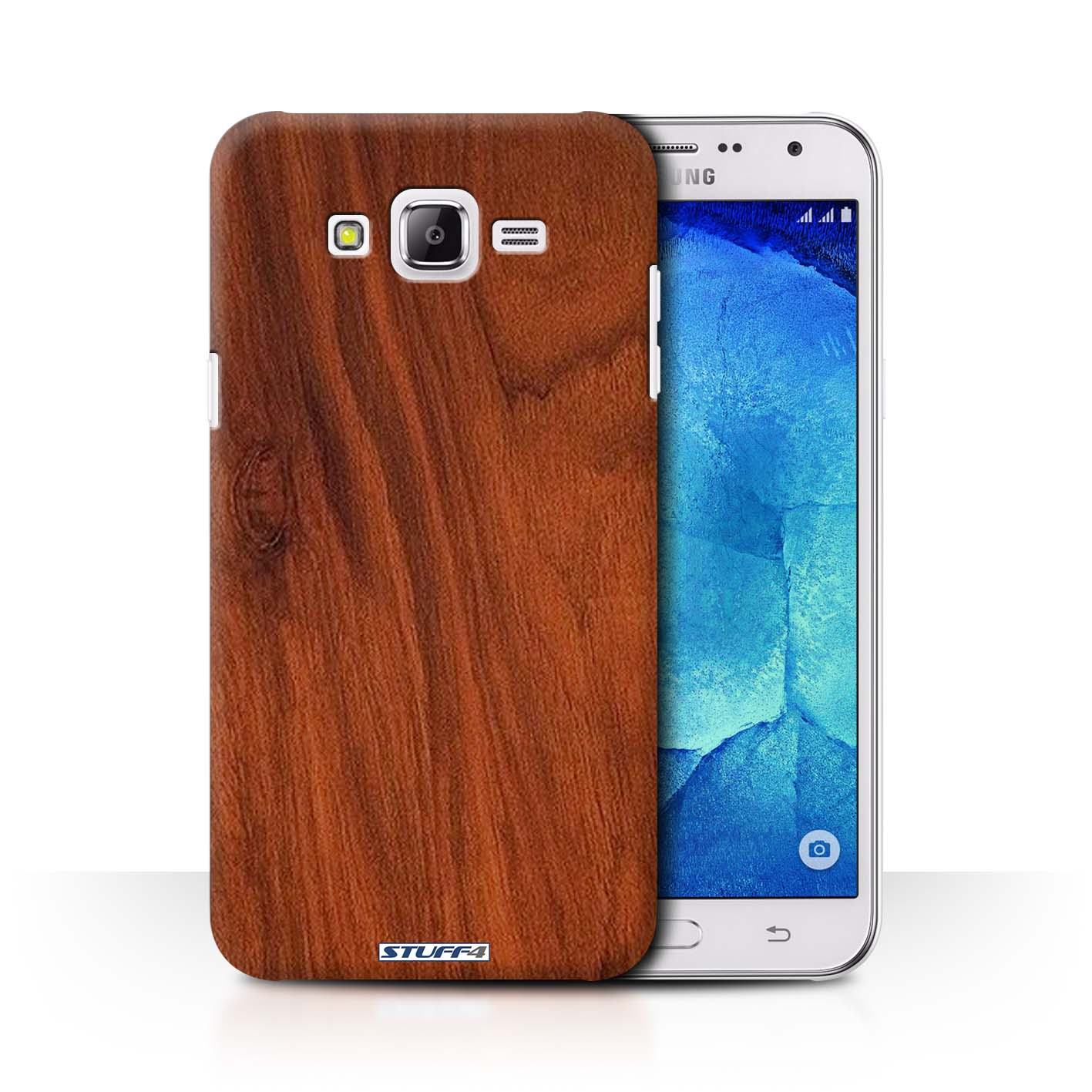 online retailer ad978 812c9 Protective Hard Back Case for Samsung Galaxy J7/J700 / Wood Grain  Effect/Pattern Collection / Mahogany
