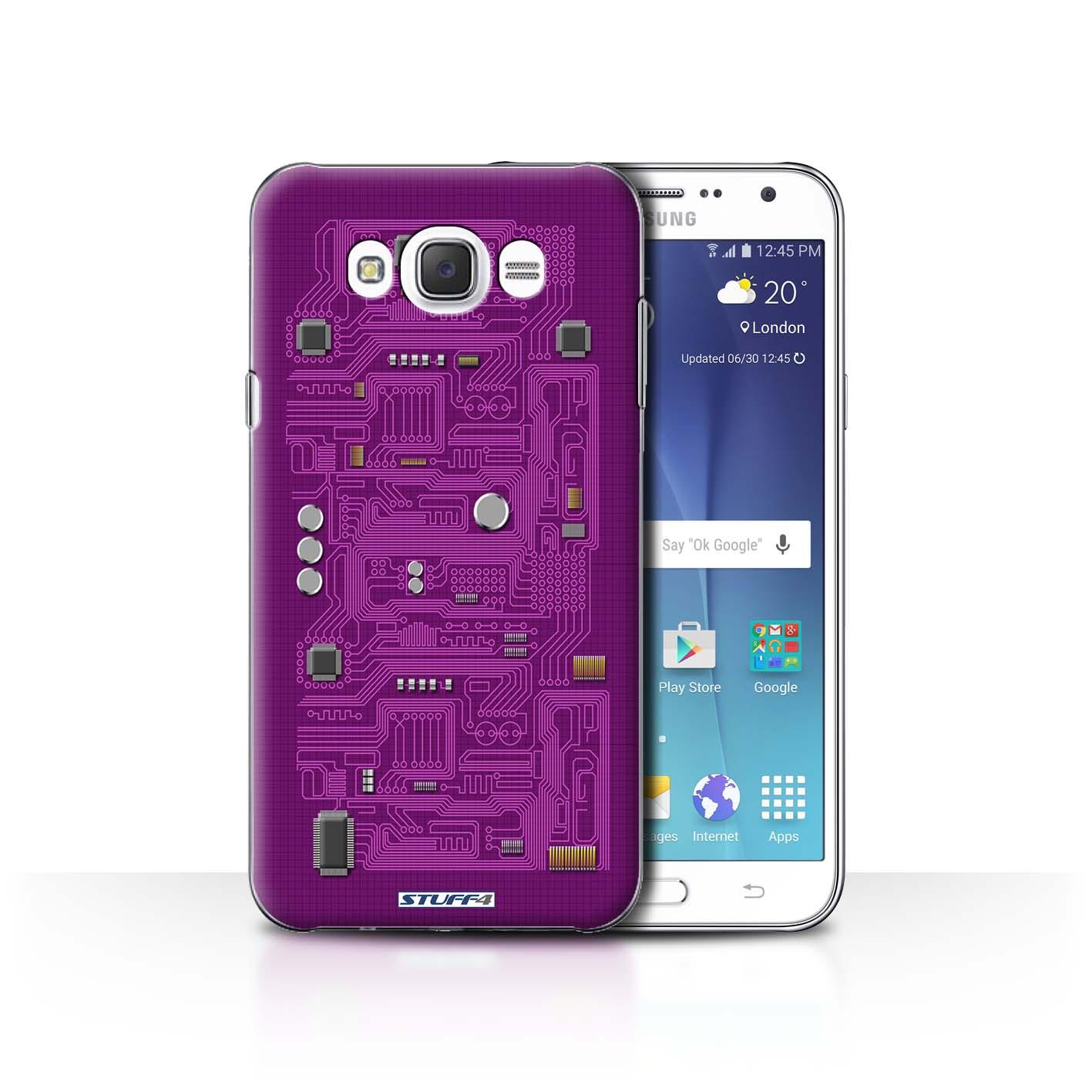 Green Circuit Board Design For Samsung Galaxy J7 2016 Clear Hard