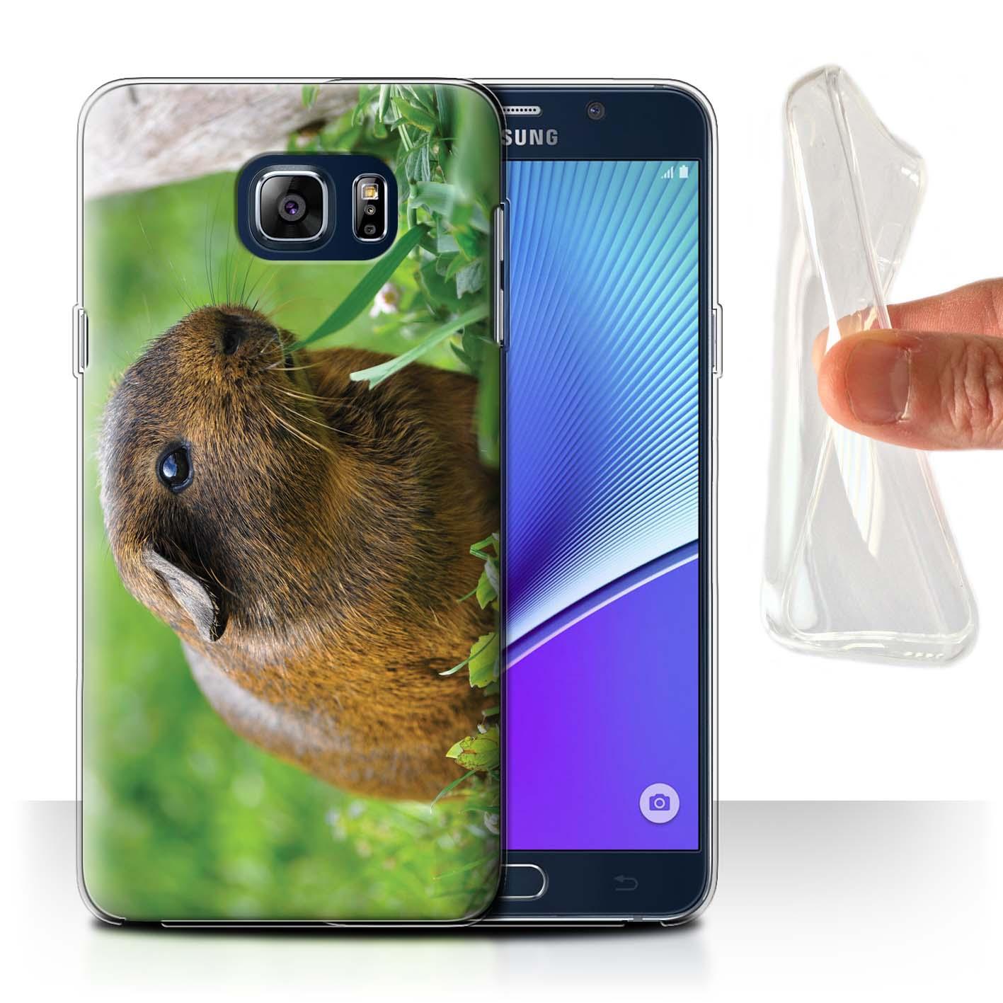 Gel-TPU-Coque-Etui-de-Stuff4-pour-Samsung-Galaxy-Note-5-N920-Animaux-Mignons