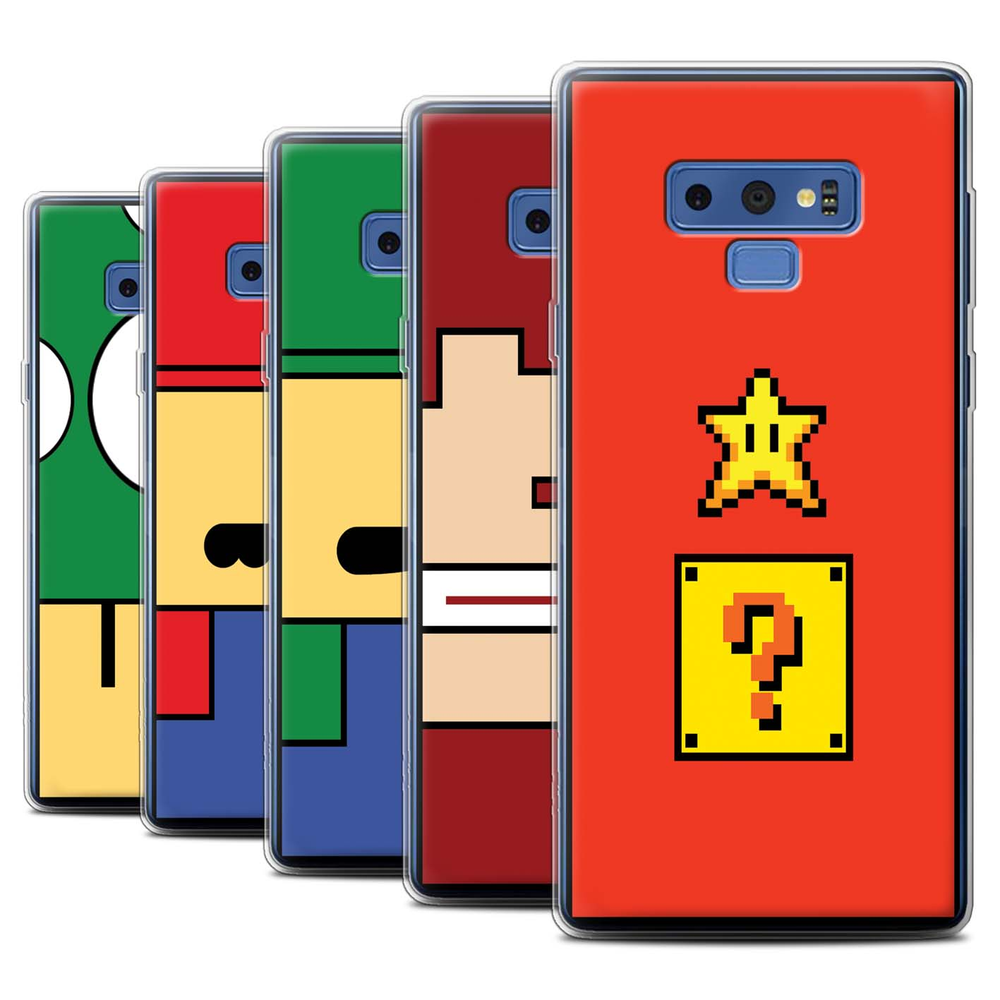 Gel-TPU-Case-for-Samsung-Galaxy-Note-9-N960-Retro-Gaming-Characters