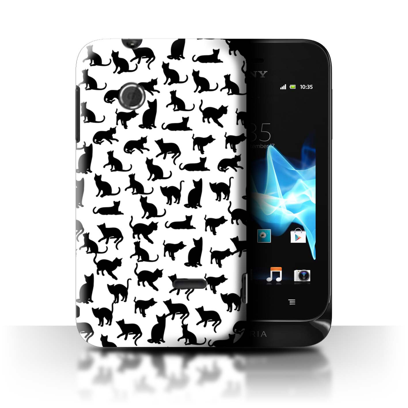 STUFF4-Back-Case-Cover-Skin-for-Sony-Xperia-Tipo-ST21-Cute-Cartoon-Cat