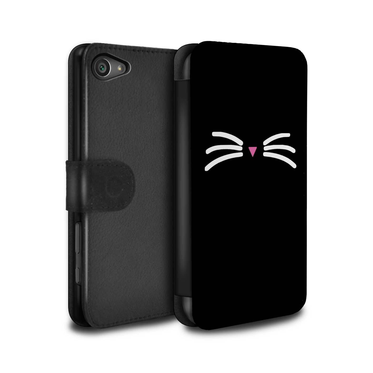 Coque-Etui-Case-Cuir-PU-pour-Sony-Xperia-Z5-Compact-4-6-Chat-Mignon-Dessin-Anime
