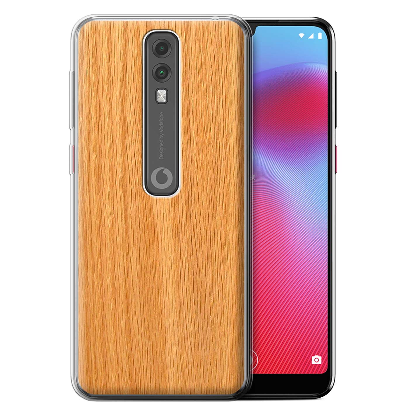 Gel-TPU-Case-for-Vodafone-Smart-V10-Wood-Grain-Effect-Pattern thumbnail 12