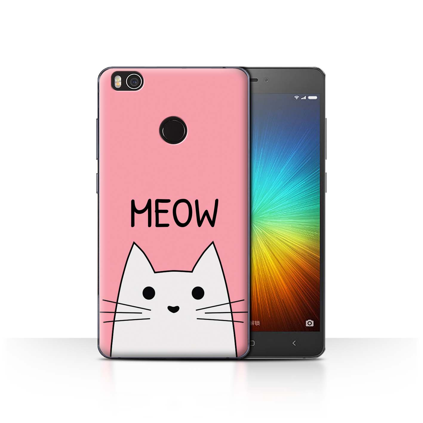 STUFF4-Back-Case-Cover-Skin-for-Xiaomi-Mi-4S-Cute-Cartoon-Cat