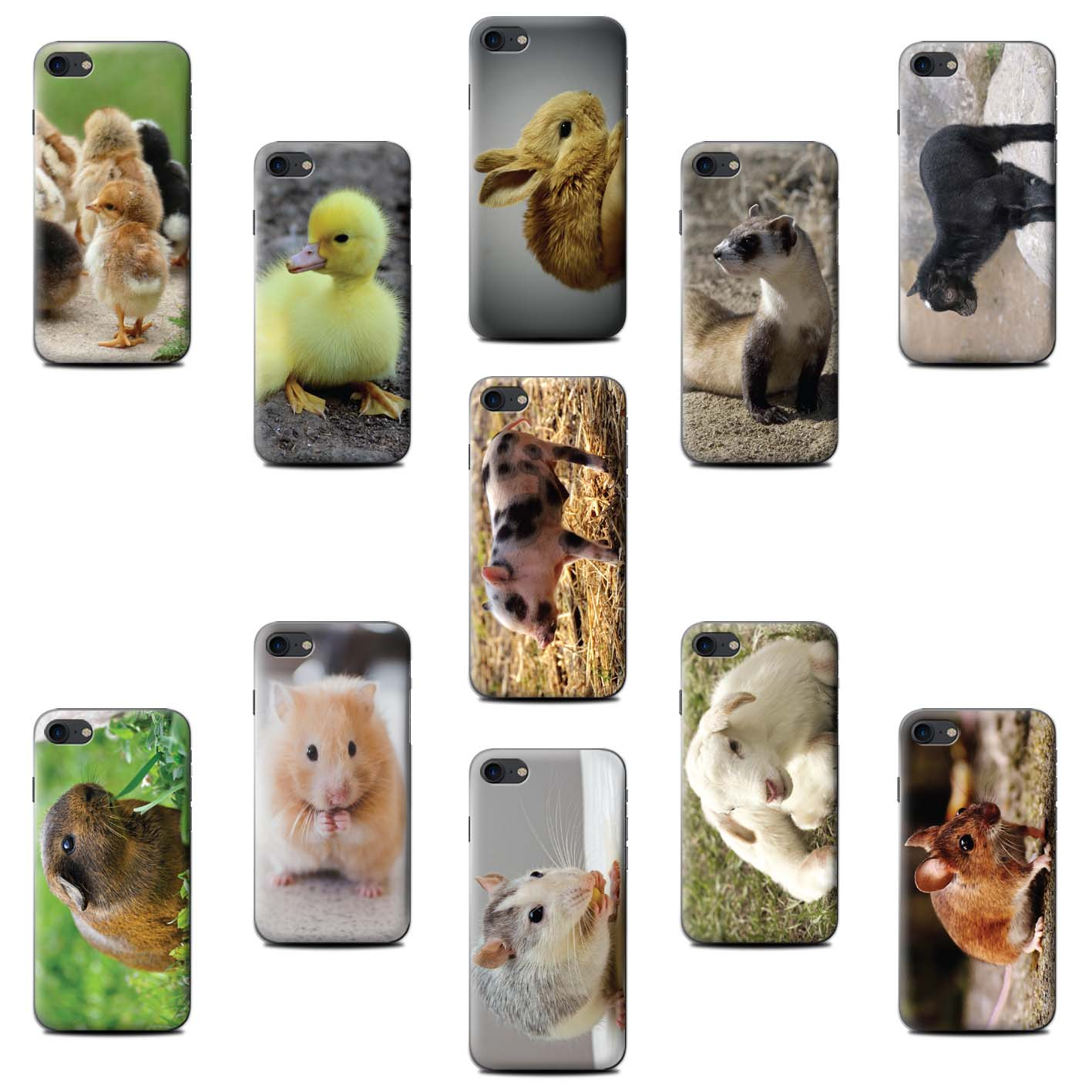 Coque-Etui-pour-Samsung-Galaxy-Note-and-On-Smartphone-Animaux-Mignons-Housse